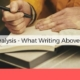 writing above the line handwriting analysis anksimage