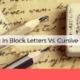 writing block vs cursive handwriting analysis anksimage